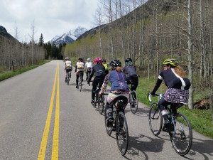 Women road ride to Maroon Bells